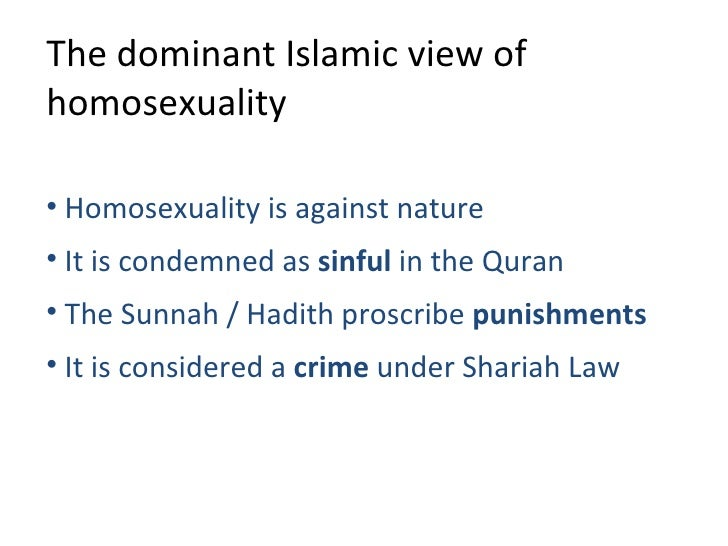 Liberal muslim views on homosexuality