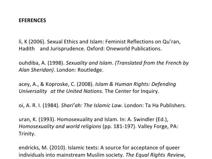 Homosexuality in islam hadith