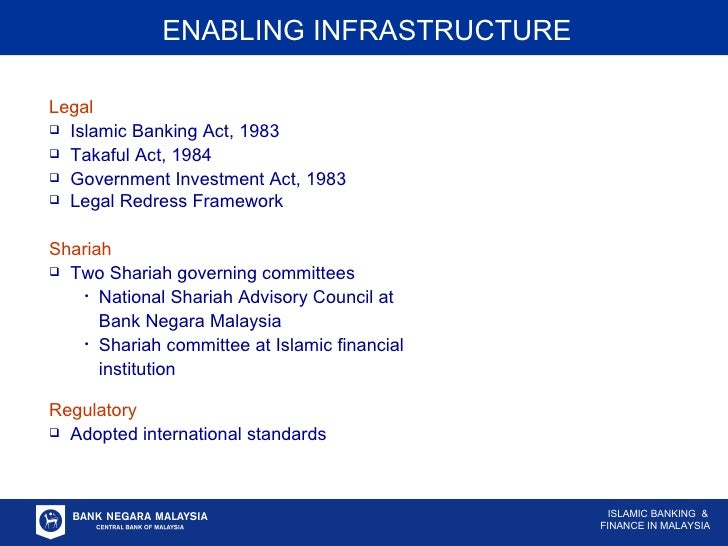 islamic banking infrastructure It takes stock of the growing institutional and infrastructure support for the islamic  banking and finance system in muslim countries and western financial markets.