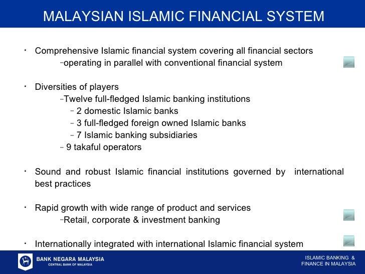 <ul><ul><li>Comprehensive Islamic financial system covering all financial sectors </li></ul></ul><ul><ul><ul><li>operating...