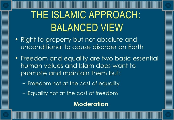 islamic economic system The economic system in contemporary islamic thought.