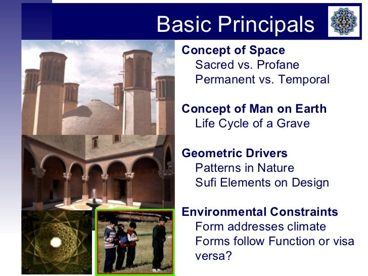 Islamic architecture lecture for Concept of space in architecture
