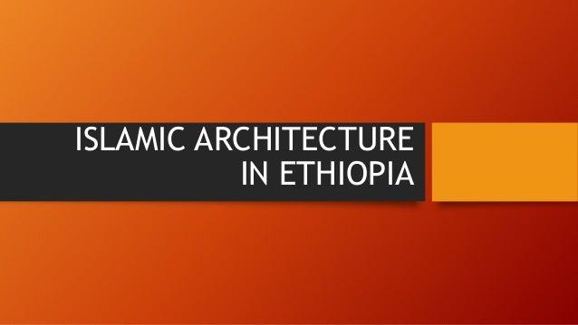 Islamic architecture in ethiopia