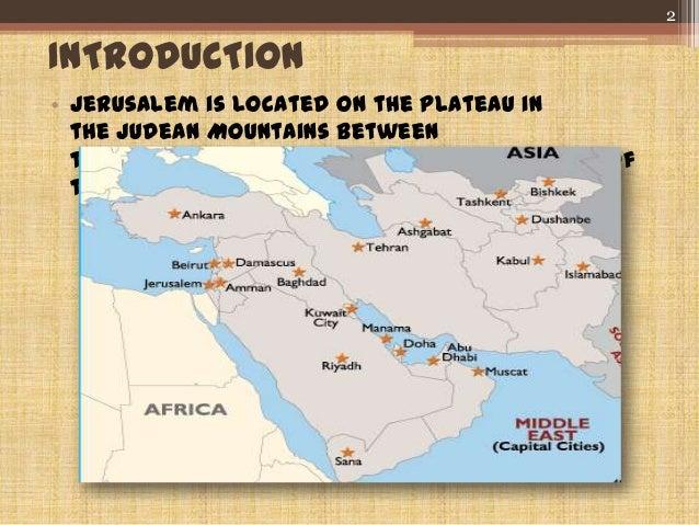 Islamic Architecture In Jerusalem - Where is jerusalem located