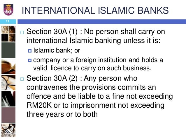 islamic banking act 1983 Banks to inaugurate islamic banking in order to diffuse services throughout the   in 1983, the government enacted the islamic banking act 1983 and bank.