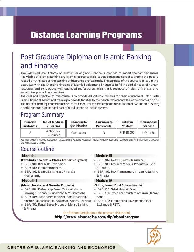 Post Graduate Diploma On Islamic Banking And Finance 6 638cb1356920352