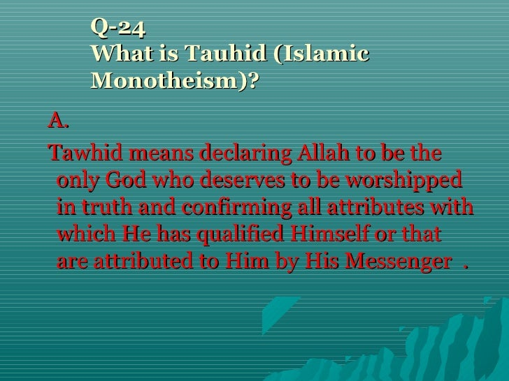 Islamic Belief 50 Questions