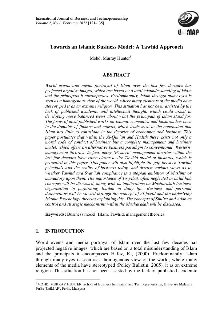 International Journal Of Business And TechnopreneurshipVolume 2 No1 February 2012 121