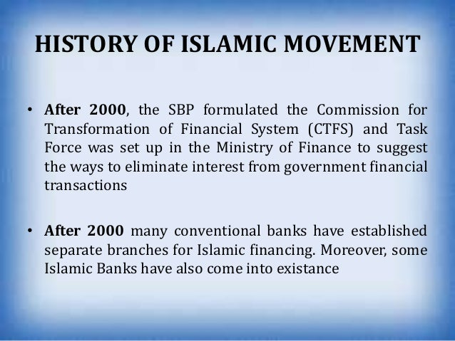 islamic financial movement On jan 1, 2008, mohammad mansoor khan (and others) published the chapter: islamic banking and finance movement worldwide: performance and prospects in the book: developments in islamic banking.
