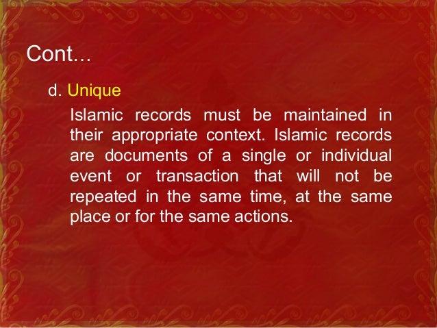 Characteristics of Islamic Information