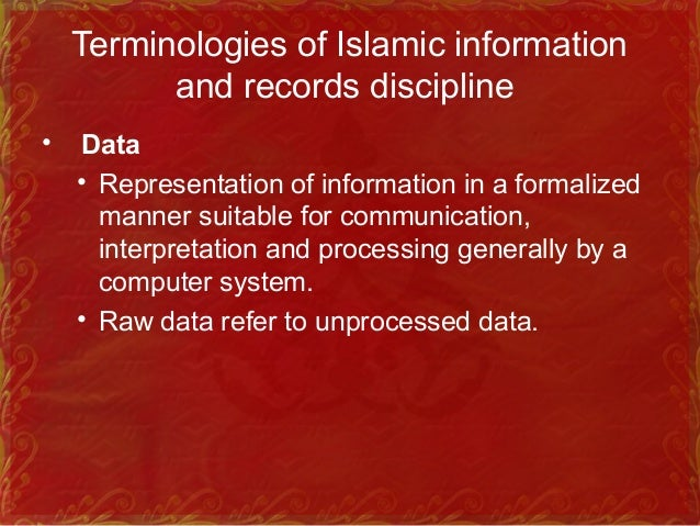 """Cont… • Information • Derived from Latin word """"informare"""" which means: Cognitive representation of data.‑ • It is a proper..."""