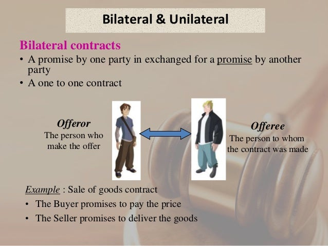 unilateral contract rewards Examples of bilateral and unilateral contracts in everyday  a unilateral contract is where only one party to the contract  explain why offers of rewards.