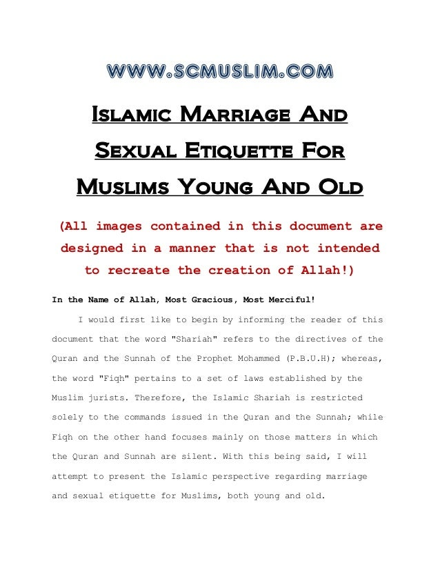www.scmuslim.com       Islamic Marriage And        Sexual Etiquette For    Muslims Young And Old (All images contained in ...