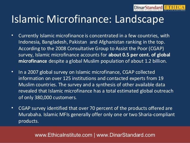 islamic microfinance Islamic microfinance: moving beyond financial inclusion abd elrahman elzahi saaid ali, phd senior economist, irti/idb abstract the current situation of high unemployment and the widening.