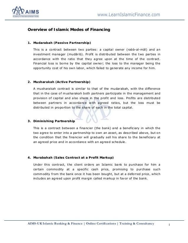 AIMS-UK Islamic Banking & Finance | Online Certifications | Training & Consultancy 1 OOvveerrvviieeww ooff IIssllaammiicc ...