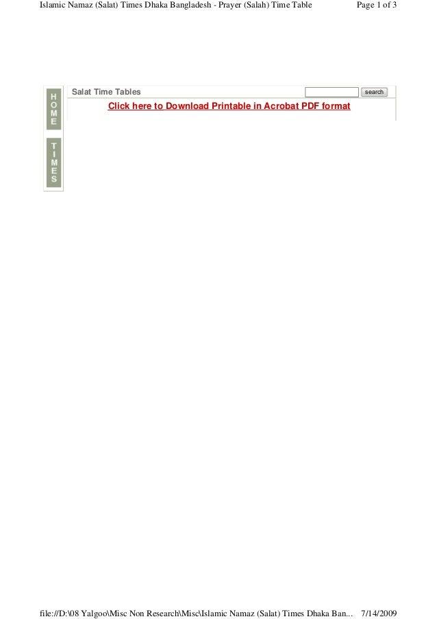 namaz time table lahore pdf