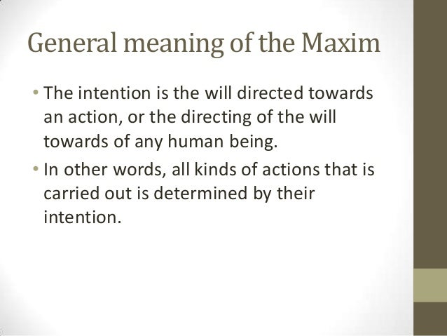 Maxime Definition