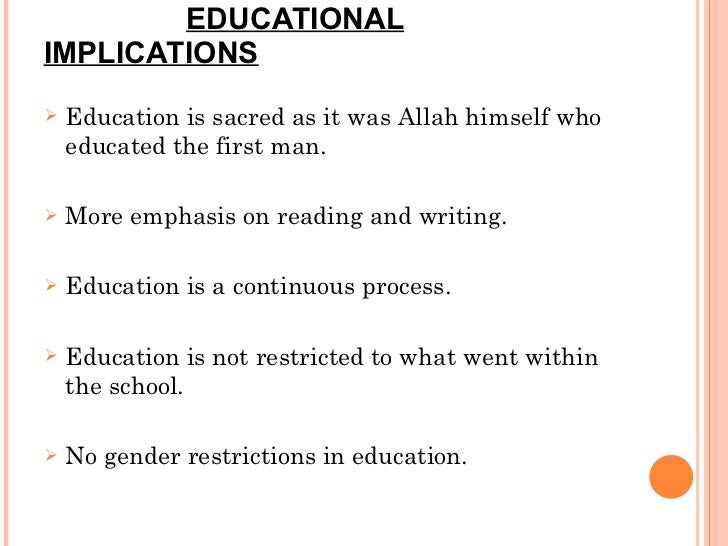 educational implications