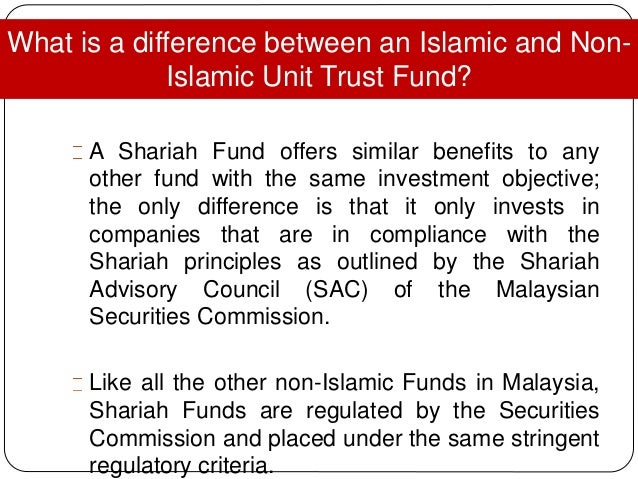 islamic unit trust Himy name is khairiah and rite now i'm doing a research about comparisan of performance between islamic and conventinal unit trusts unit trust under the.