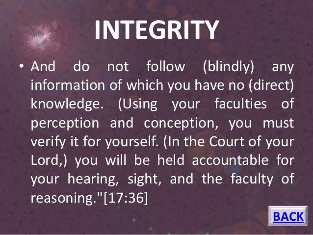 Islam and Honesty