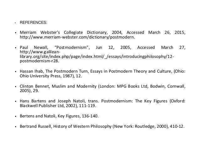 Ihab hassan postmodernism essay