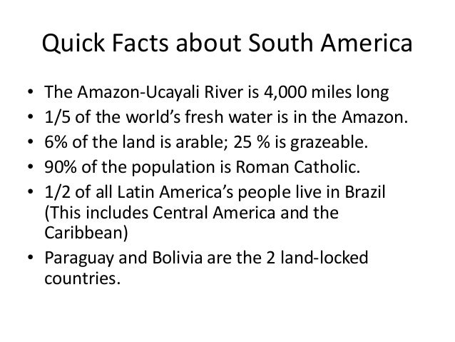 Islam in south america for Good facts about america