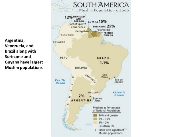 muslim population in south america
