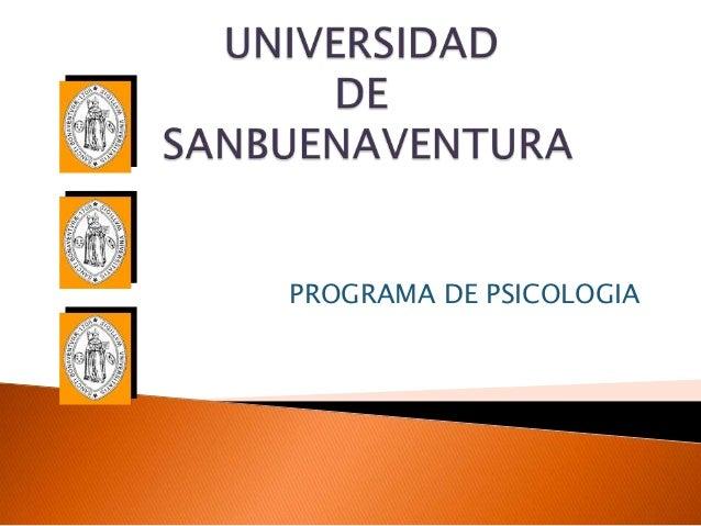 PROGRAMA DE PSICOLOGIA