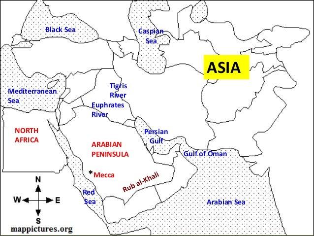 Arabian sea location map
