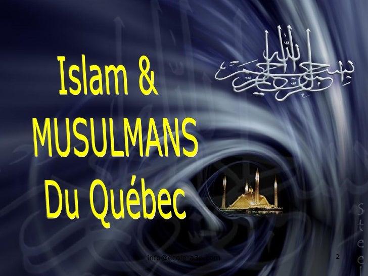 Islam & Musulmans, Arabes - Confusion ? Slide 2