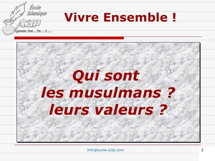 Islam & Musulmans, Arabes - Confusion ? Slide 3