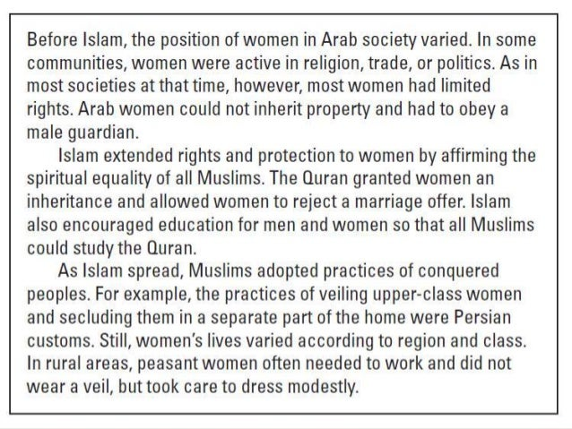 islam notes Islam notes 1 islam submission to the will of allah 2 i the rise and spread of islam the arabian peninsula which is modern-day saudi arabia was occupied by herders called bedouins they wer.