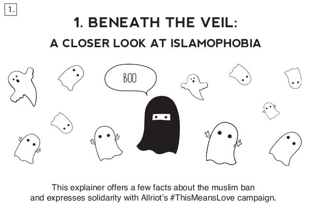 1. BENEATH THE VEIL: A CLOSER LOOK AT ISLAMOPHOBIA This explainer offers a few facts about the muslim ban and expresses so...