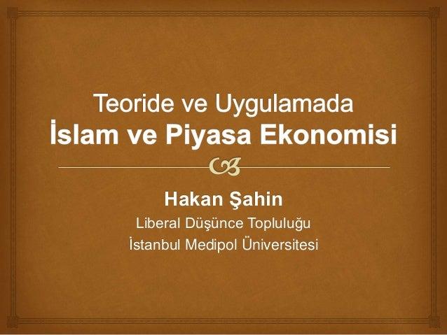 Hakan Şahin Liberal Düşünce Topluluğu İstanbul Medipol Üniversitesi