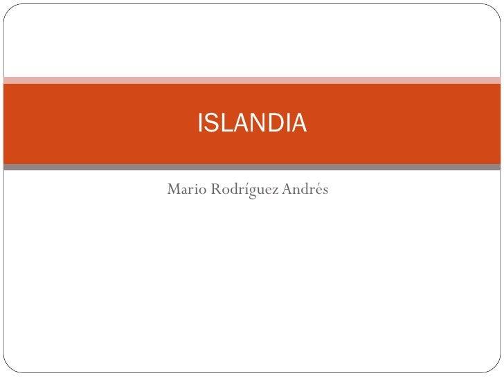 Mario Rodríguez Andrés ISLANDIA