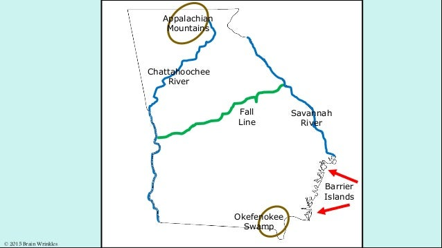 Map Of Georgia Barrier Islands.Georgia S Islands Mountains And Swamps