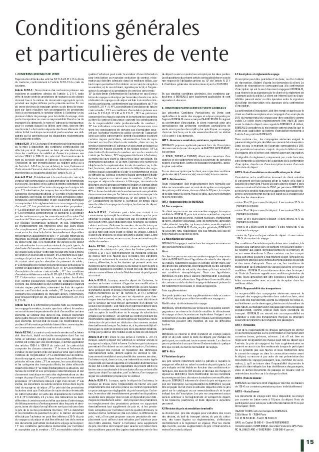15 Conditions générales et particulières de vente I -CONDITIONS GENERALES DE VENTE Reproduction littérale des articles R.2...