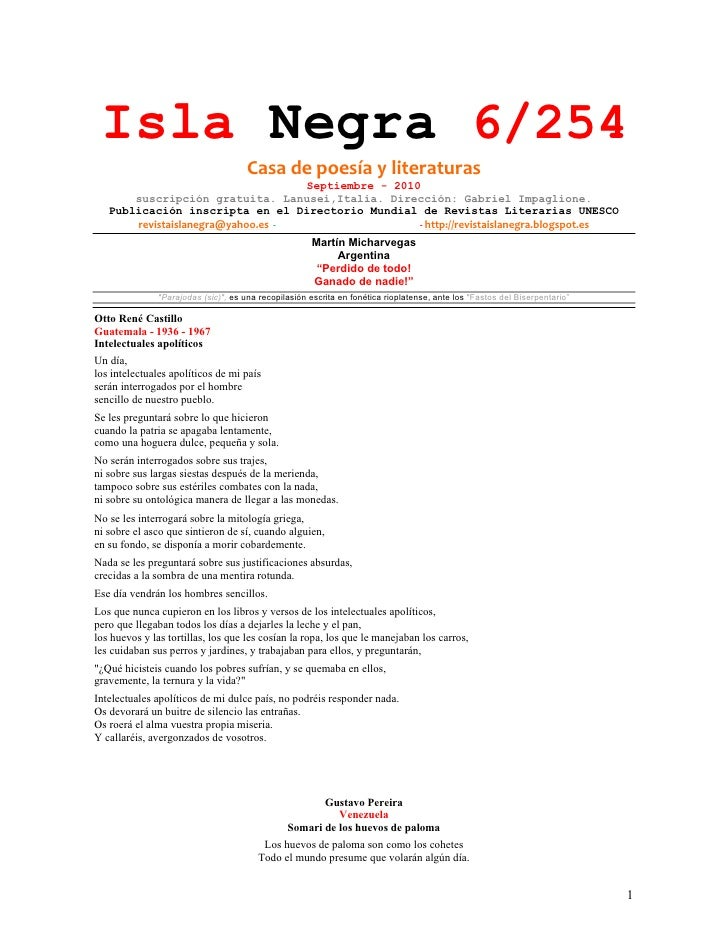 Isla Negra 6/254                                         Casadepoesíayliteraturas                                    ...