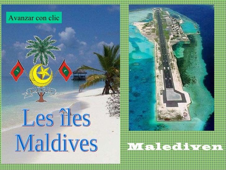 Les îles Maldives Malediven Avanzar con clic