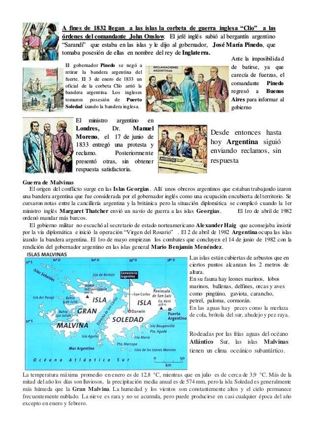 Guerra de Malvinas El origen del conflicto surge en las Islas Georgias. Allí unos obreros argentinos que estaban trabajand...