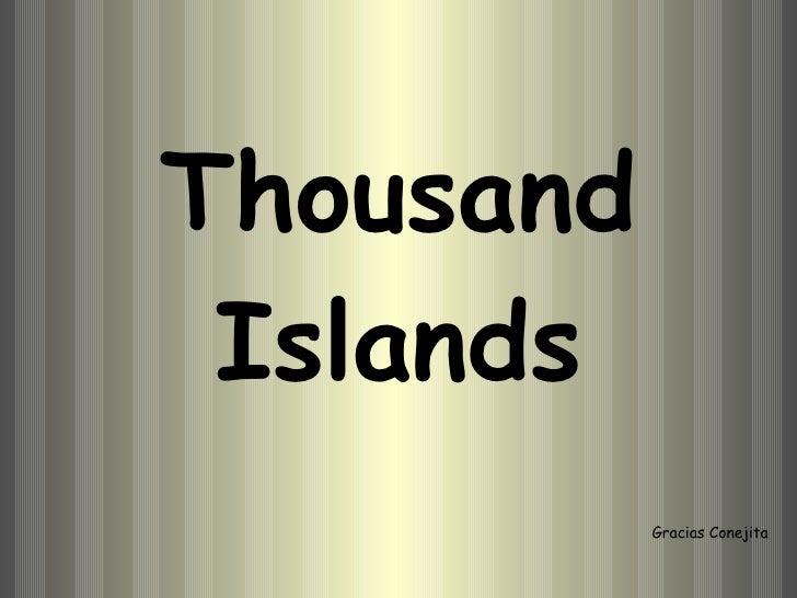 Thousand Islands Gracias Conejita