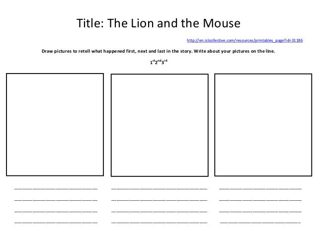 Islcollective Worksheet Thelion And The Mouse