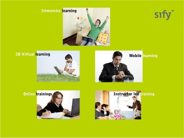 Immersive learning3D Virtual learning                        Mobile learning    Online trainings               Instructor ...