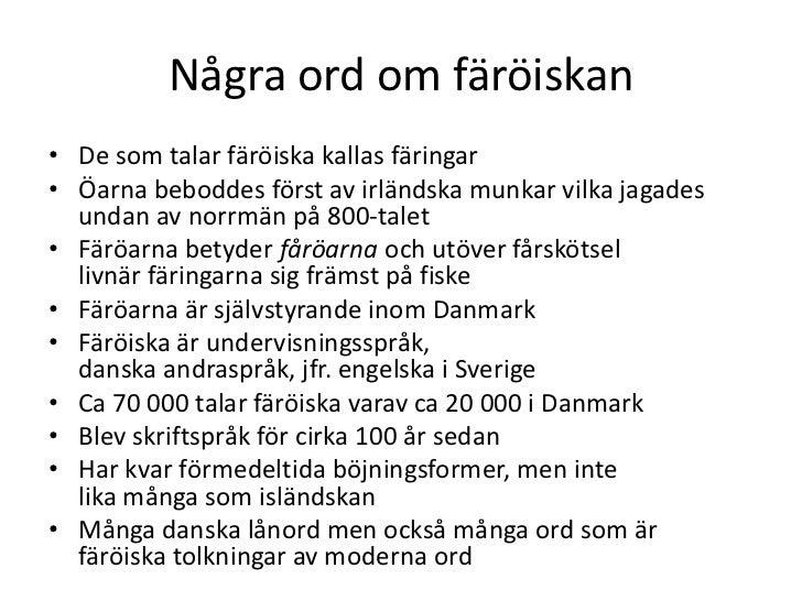 ISLÄNDSKA SVENSKA