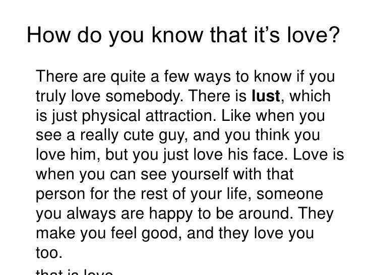 How Do I Know I Love Him