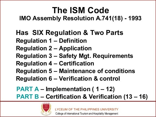Ism Code Pdf