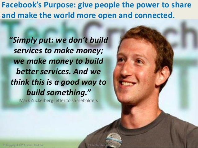 """18 / 113 """"Simply put: we don't build services to make money; we make money to build better services. And we think this is ..."""