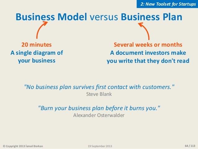 burn your business plan osterwalder