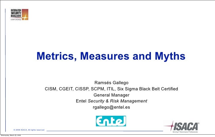 Metrics, Measures and Myths                                                                            Ramsés Gallego     ...