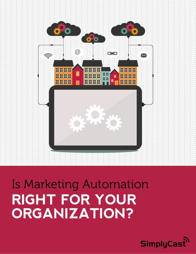 Is Marketing Automation  RIGHT FOR YOUR ORGANIZATION? Copyright SimplyCast 2014